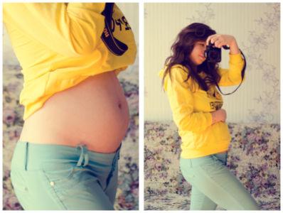 Фото живот на 9 акушерской неделе беременности